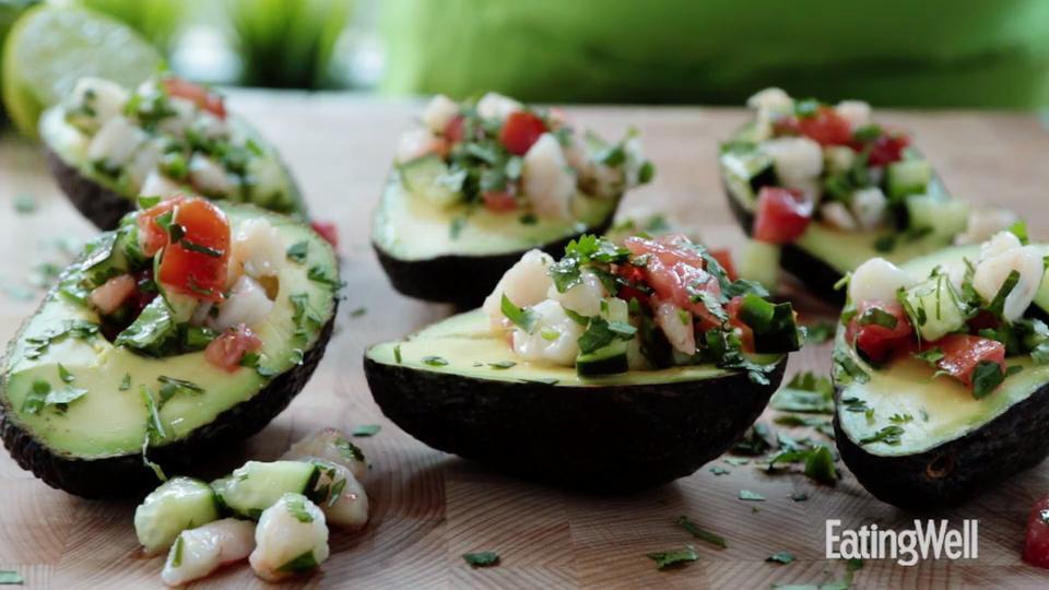 Ceviche-Stuffed Avocados Hilary Meyer