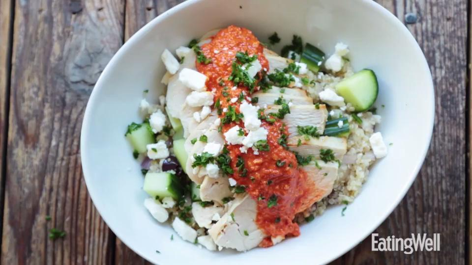 Mediterranean Chicken Quinoa Bowl