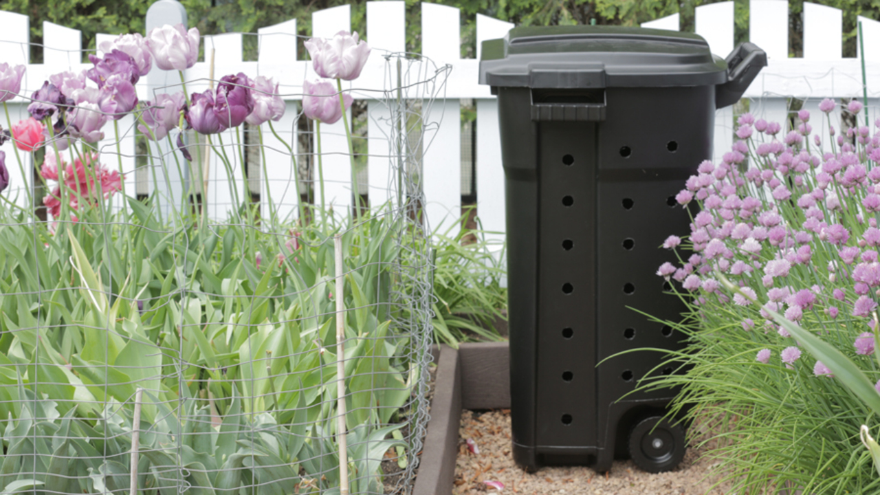 The Simplest Compost Bin You Can Make