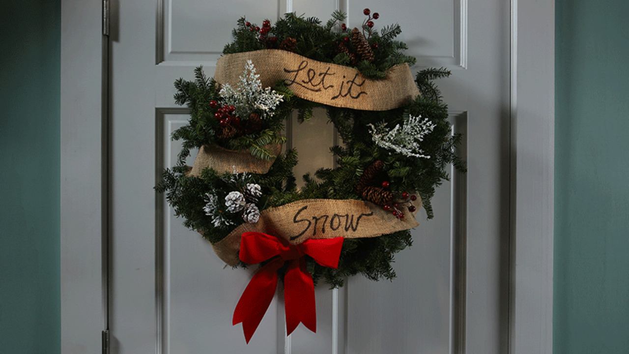 """Let It Snow"" Wreath"