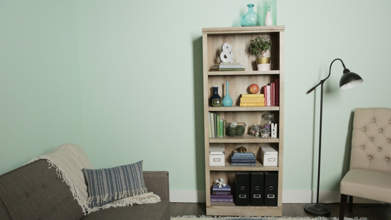 Decorate Bookshelves with Items You Actually Use