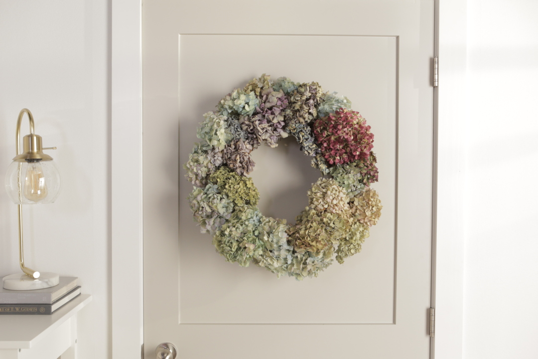 Natural Hydrangea Wreath