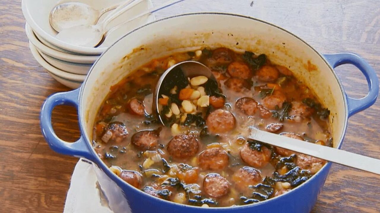 Sausage and Kale Soup with White Beans