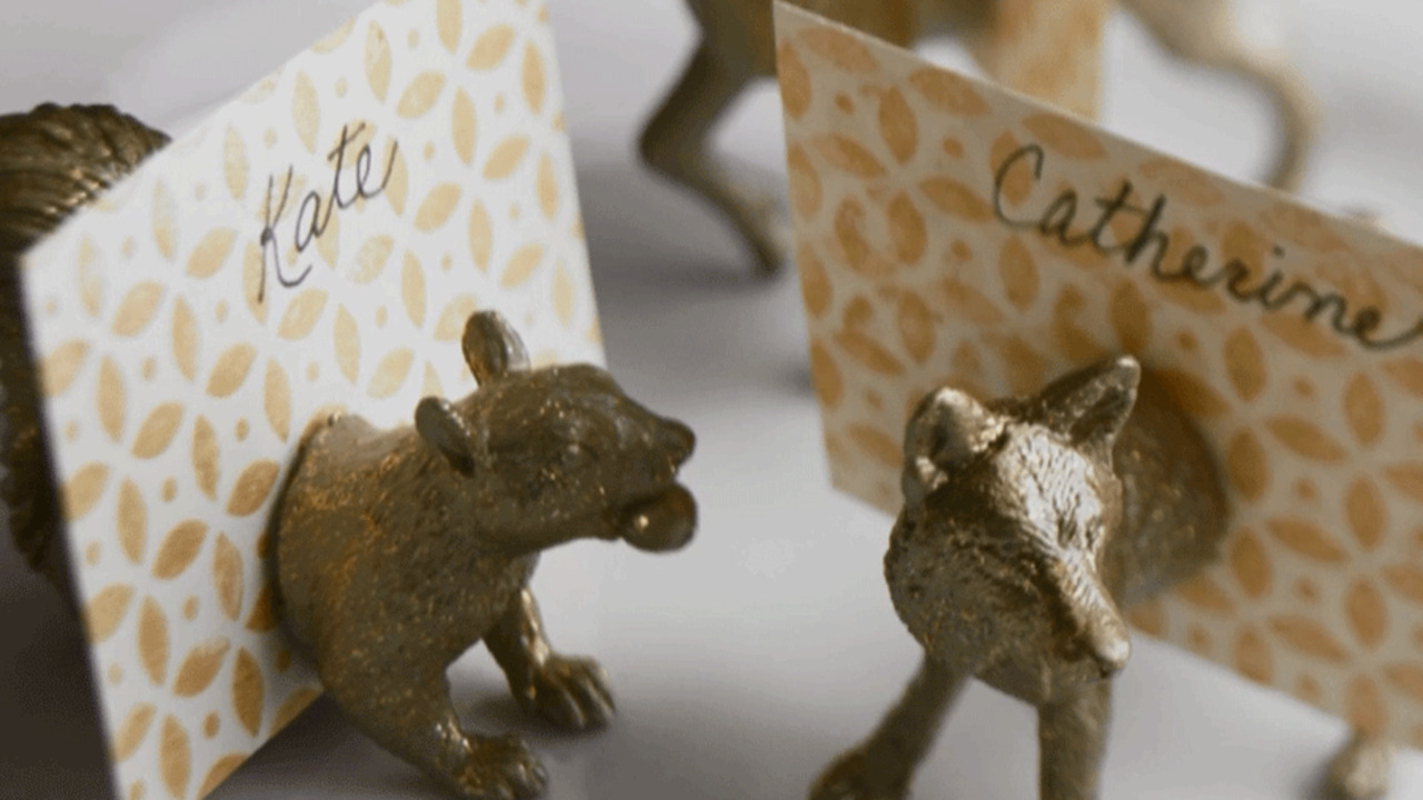 Woodland Creature Place Card Holders