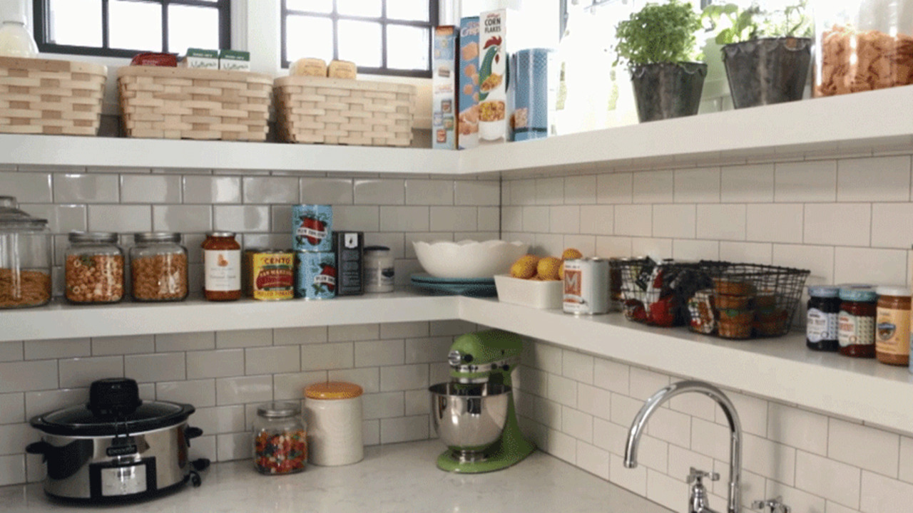 Open Shelving for Pantries