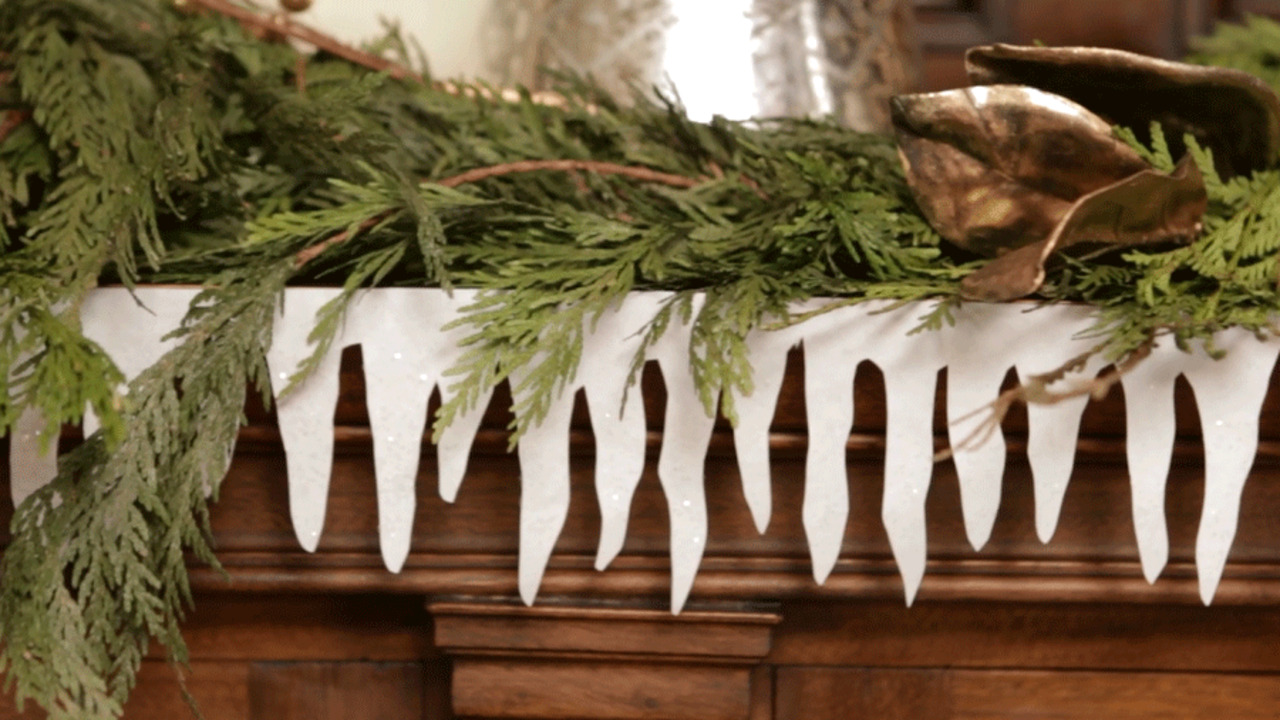 Paper Icicle Garland