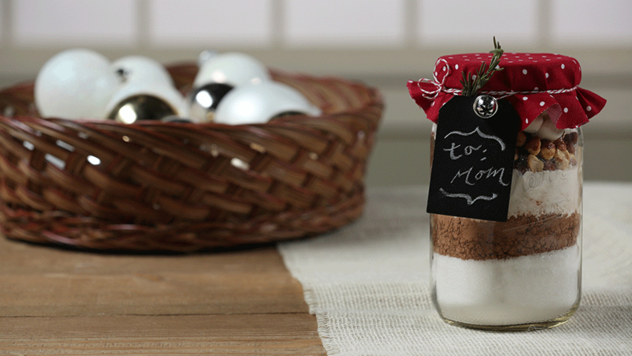 Mason Jar Gift with Chalkboard Label
