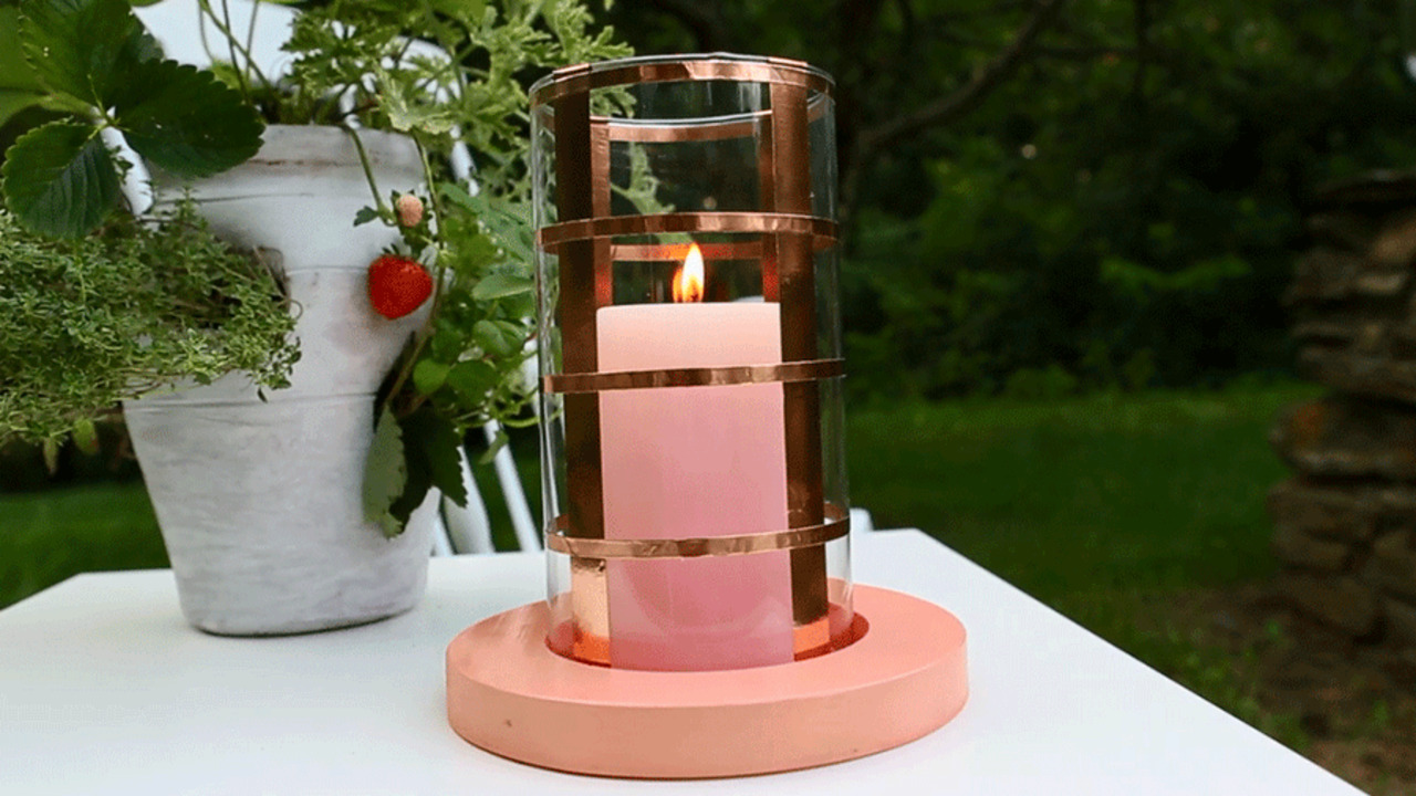 Easy Glowing Copper Candleholder
