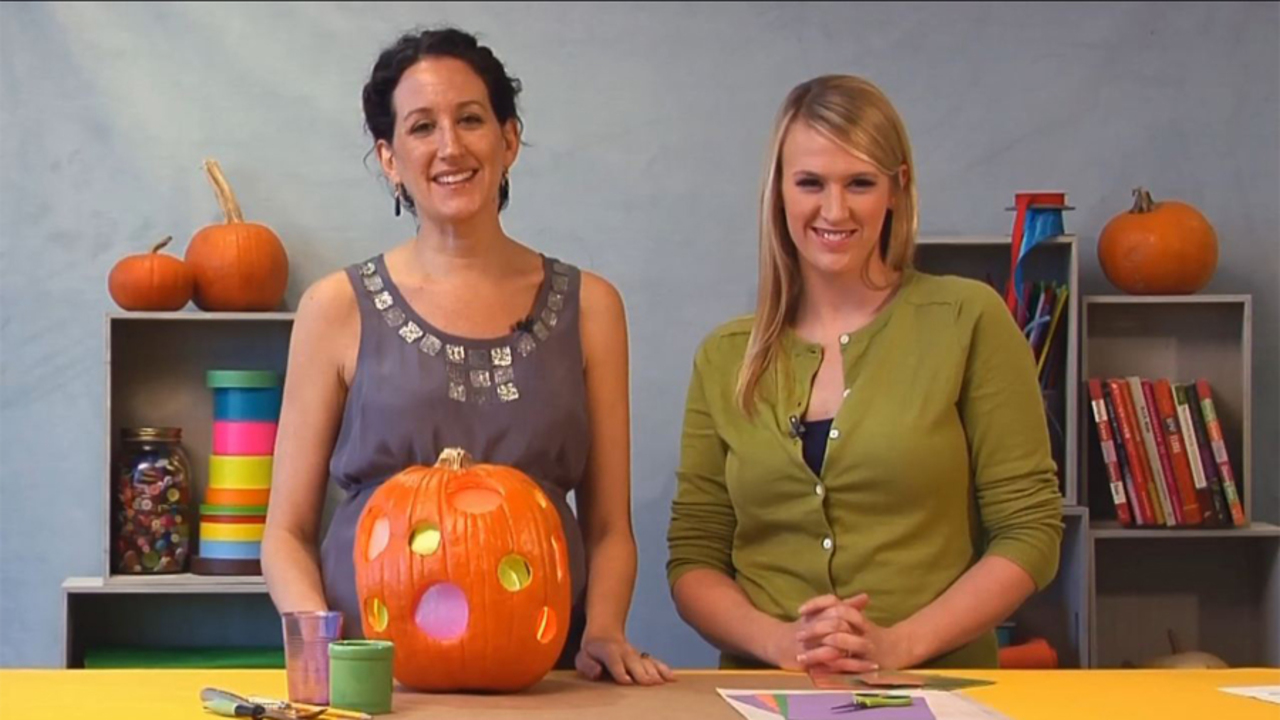 How to Make a Stained Glass Pumpkin