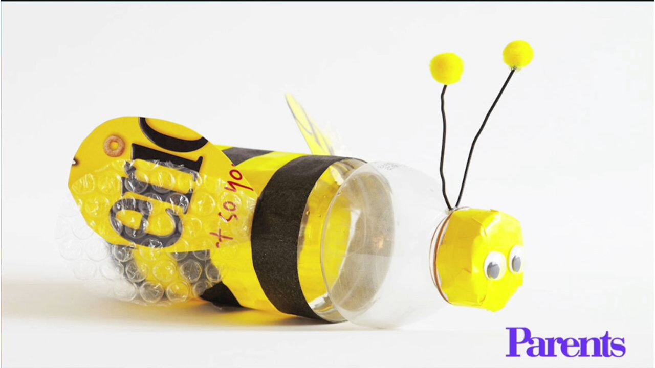 Upcycled Bumblebee Craft: How-To Video