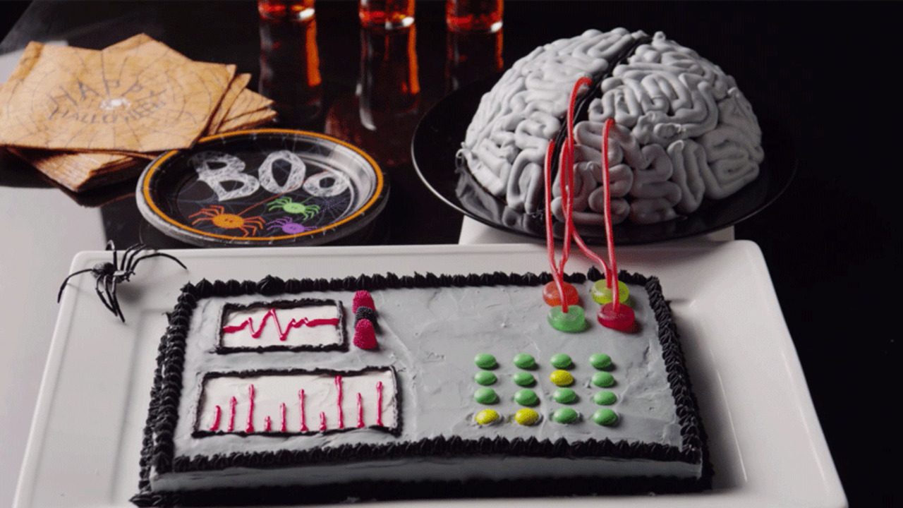 Mad Scientist Birthday Cake