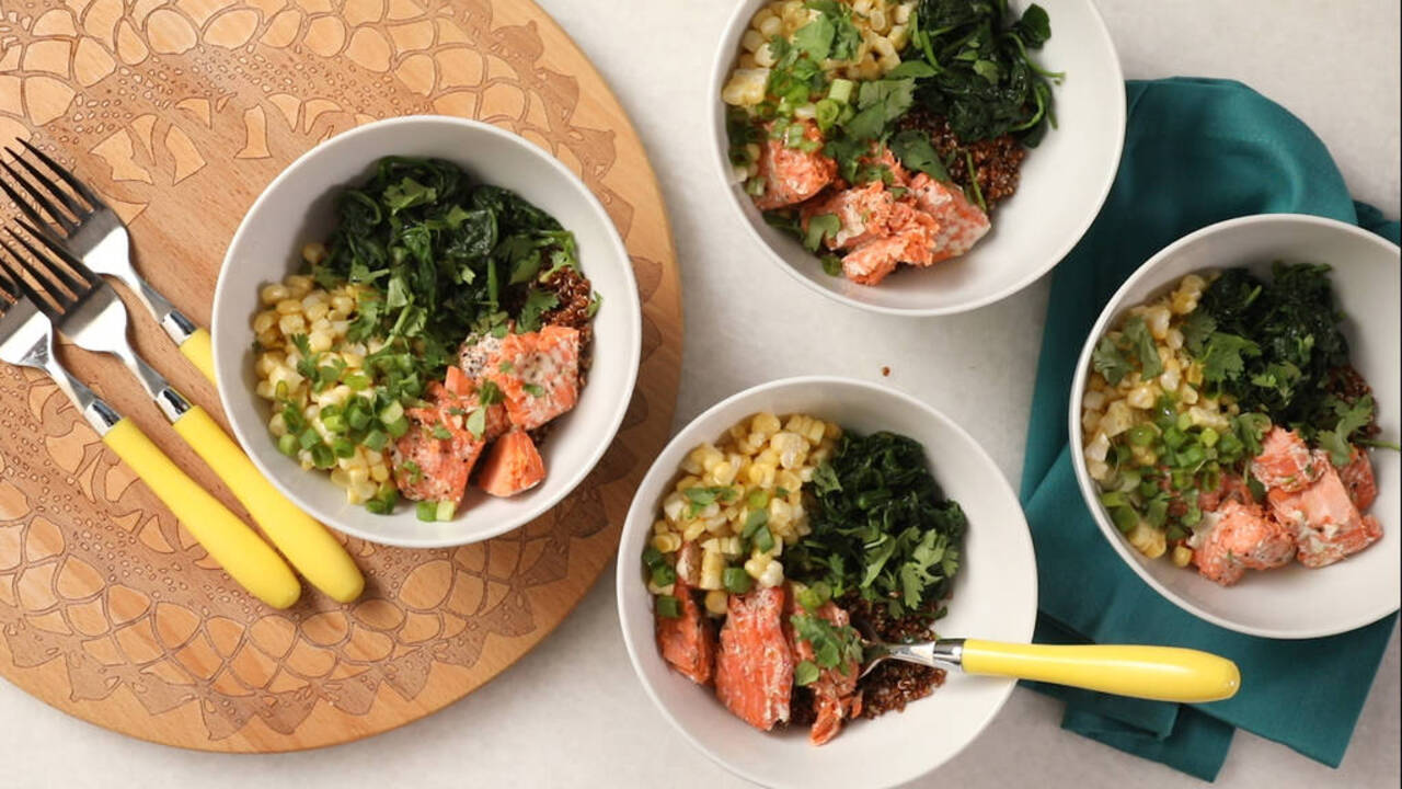 Quinoa-Salmon Power Bowl