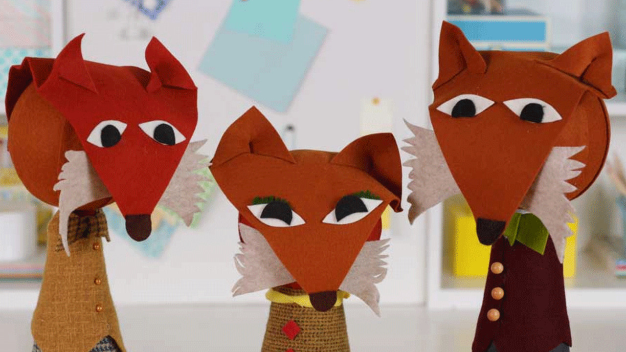 Crafts for Kids: Mama and Papa Fox