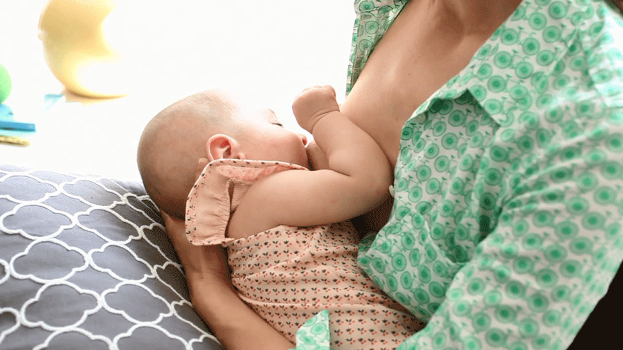 How to Do the Cross Cradle Breastfeeding Position