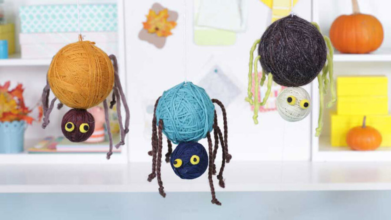 How to Make Silly Yarn Spiders