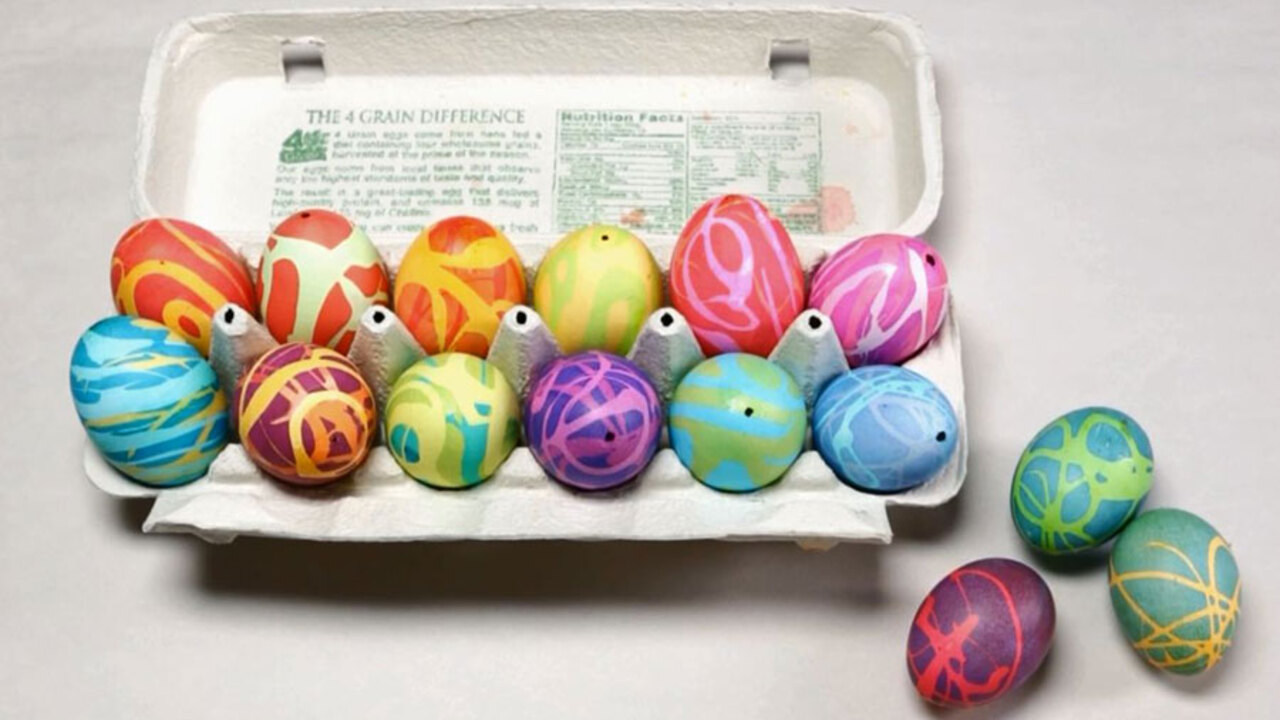 How to Make Rubber Cement Easter Eggs