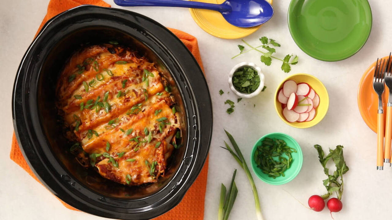 Slow-Cooker Veggie Enchiladas