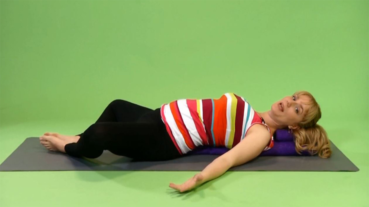 Prenatal Yoga: Supported Bound Ankle Pose