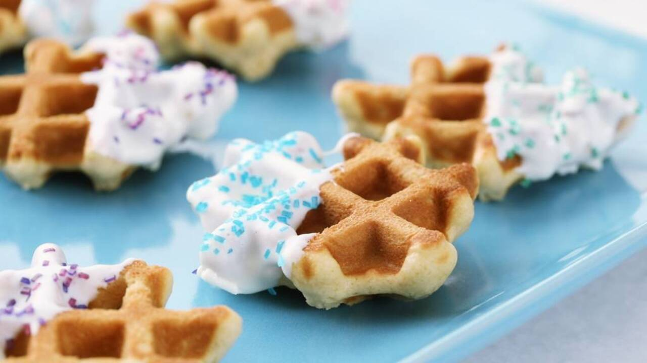 Sparkly Waffle Cookies
