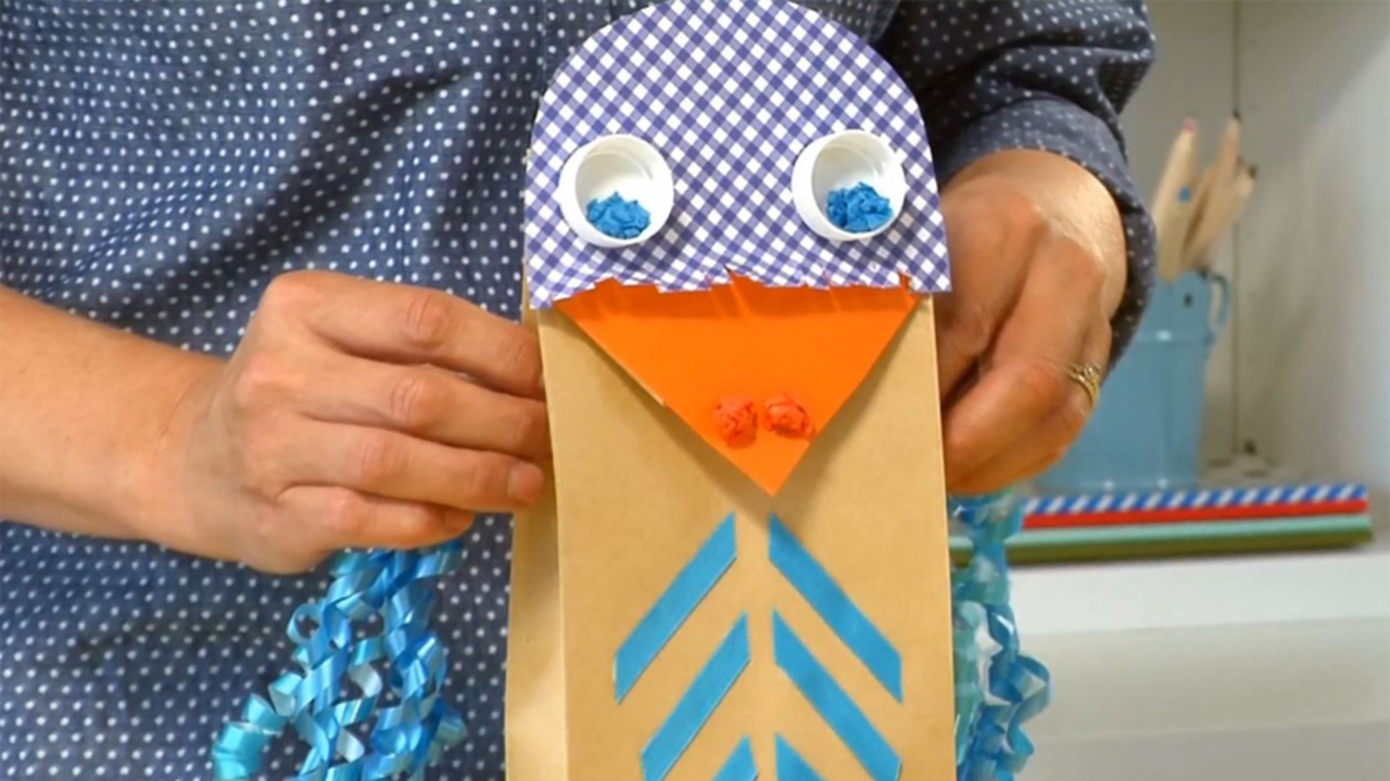 How to Make a Paper Bag Puppet