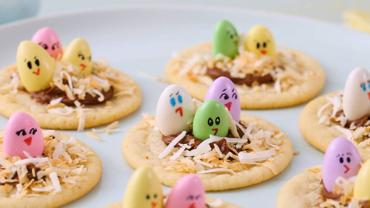 Little Chick Thumbprint Cookies