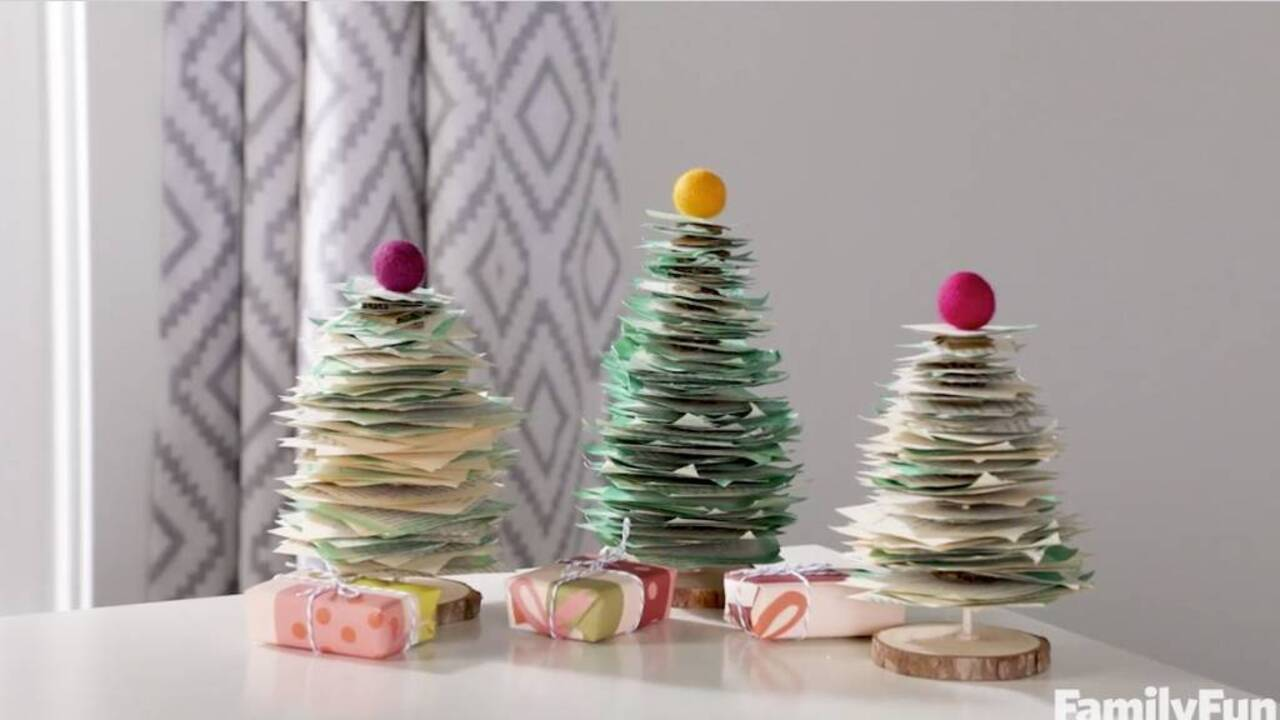 Holiday DIY: Paper Book Trees