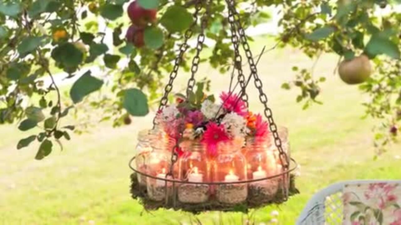 Video: How to make a garden chandelier