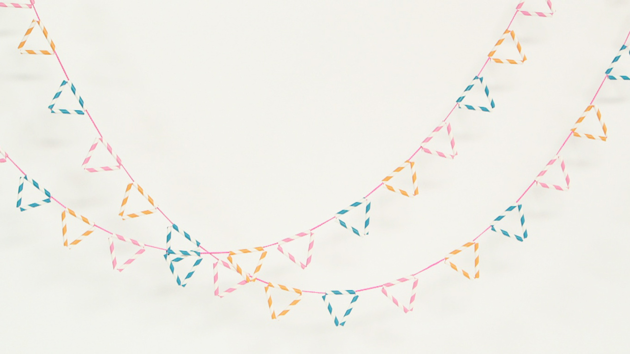 Colorful Paper Straw Garlands