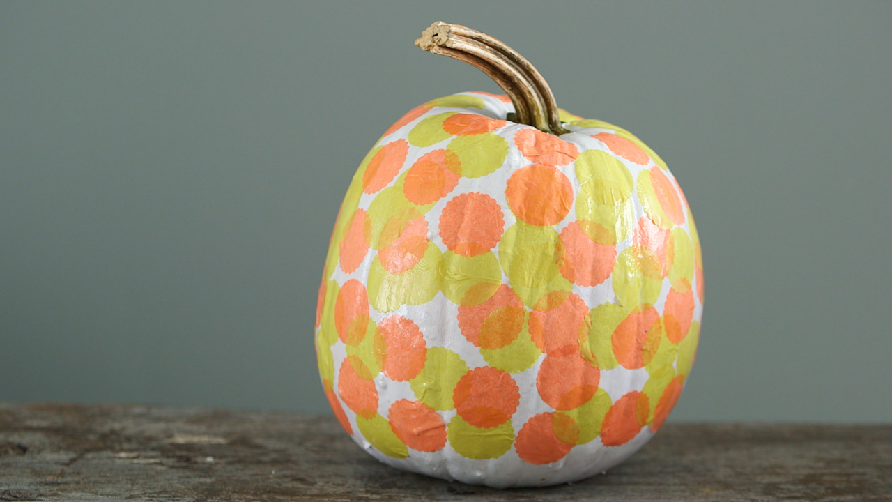 Decoupage Dots Pumpkin