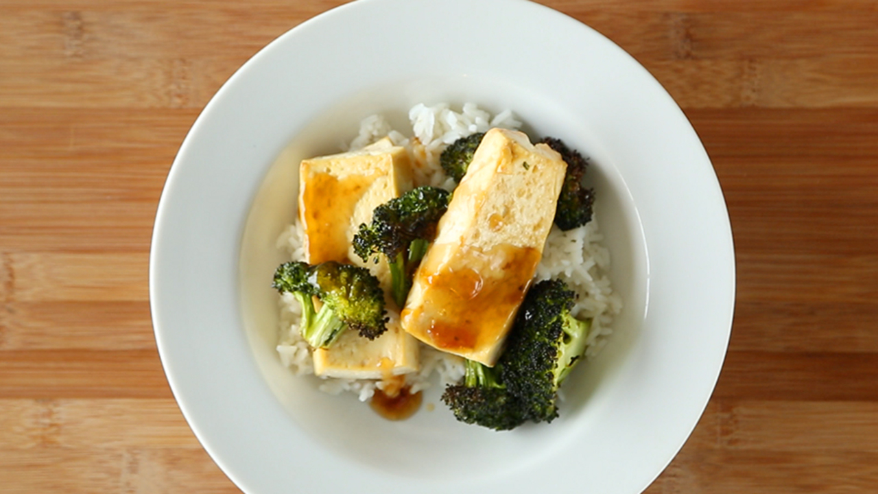 Soy-Maple Broiled Tofu