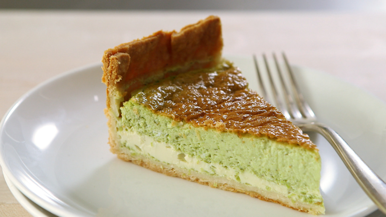 Pureed Peas and Mint Quiche
