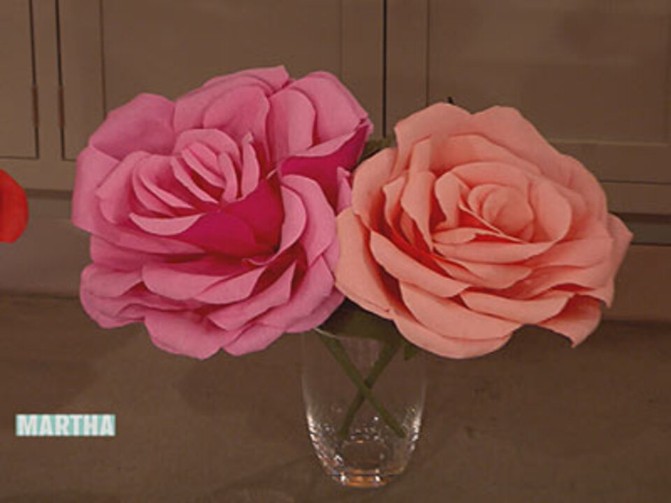 Crepe-Paper Roses How-To
