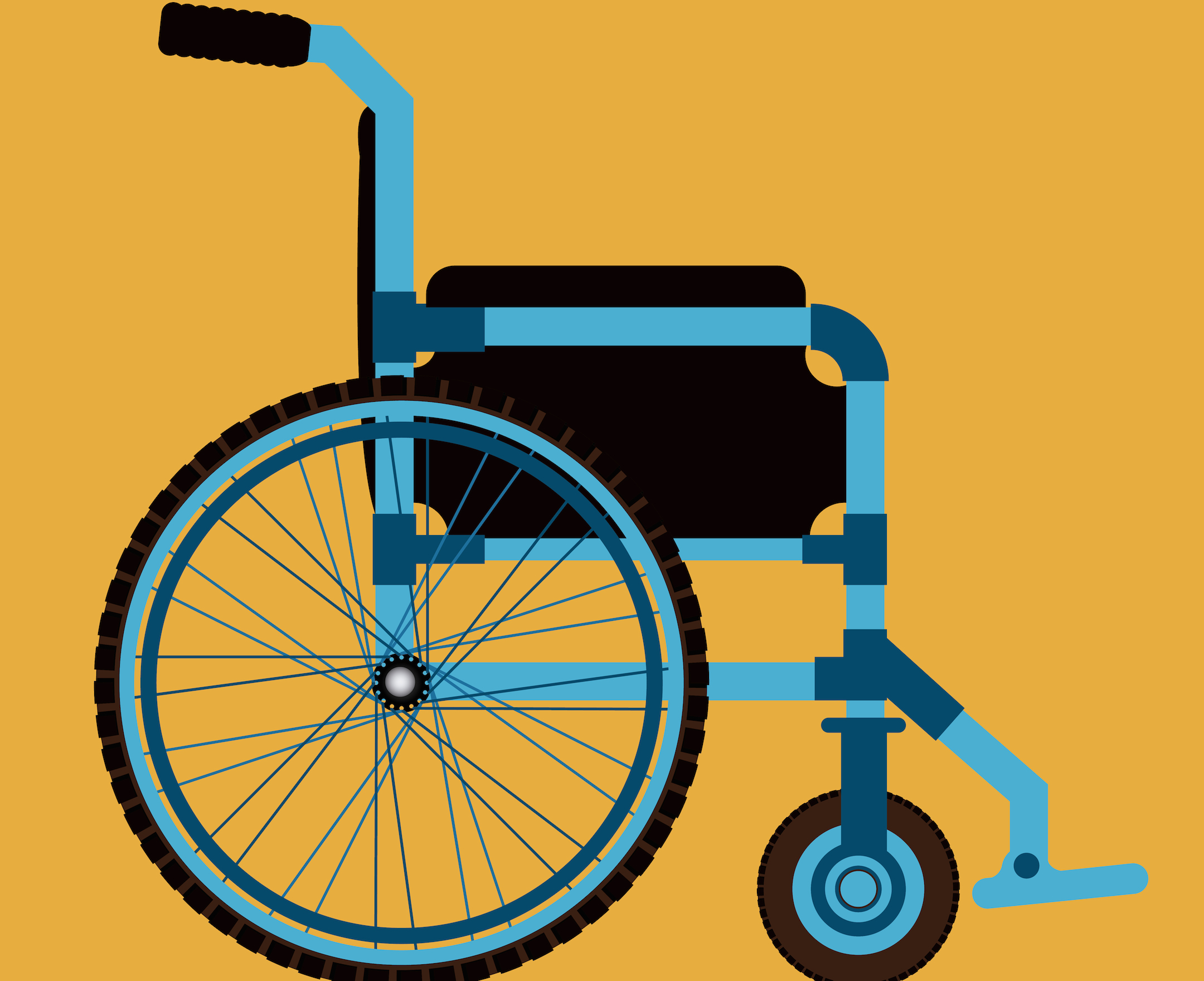 Disabled design over yellow background, vector illustration