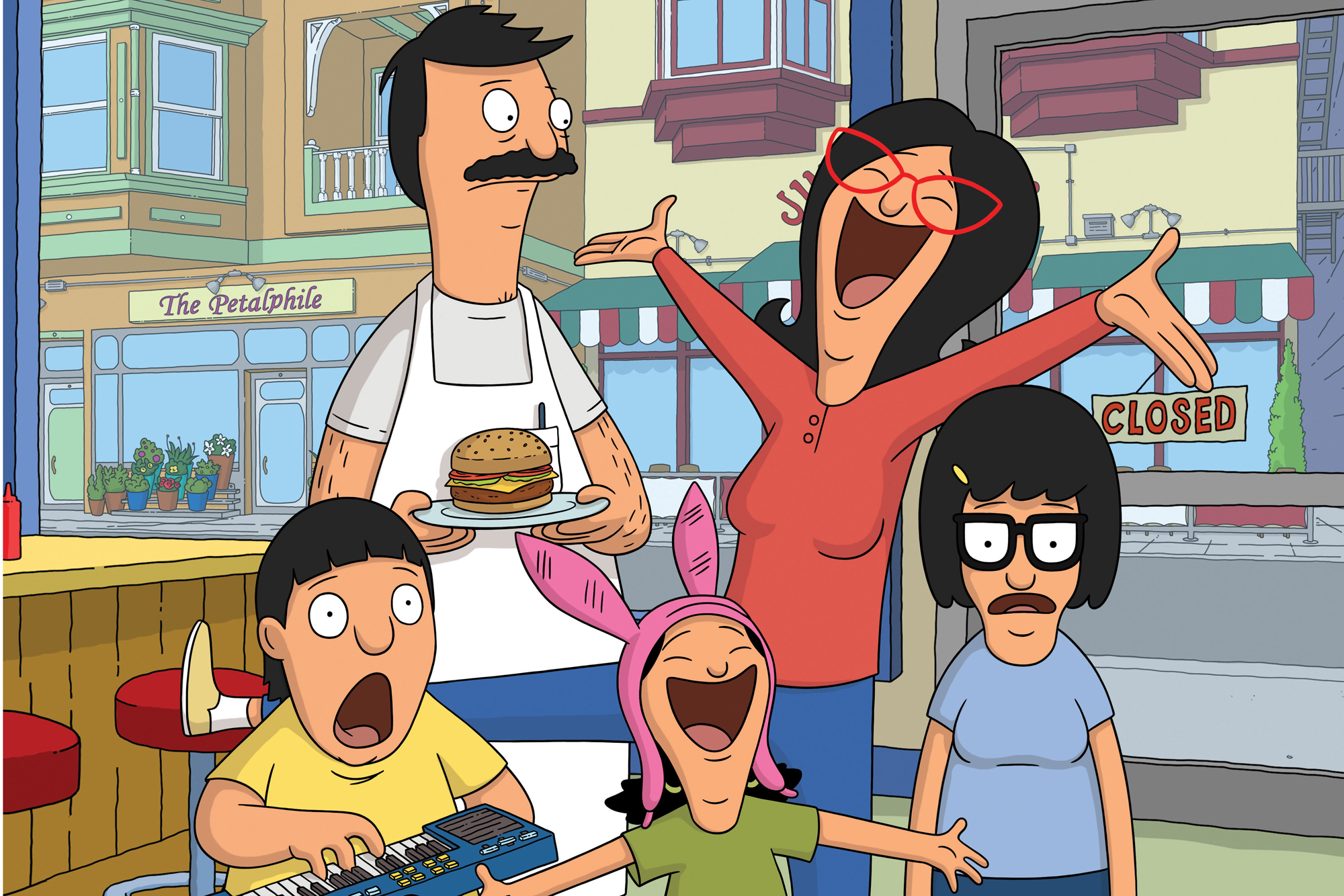 TV STILL -- DO NOT PURGE -- BOB'S BURGERS: Join the Belcher family for Season Five of the Emmy Award winning BOB'S BURGERS  Sundays on FOX.  BOB'S BURGERS ™ and © 2014 TCFFC ALL RIGHTS RESERVED.