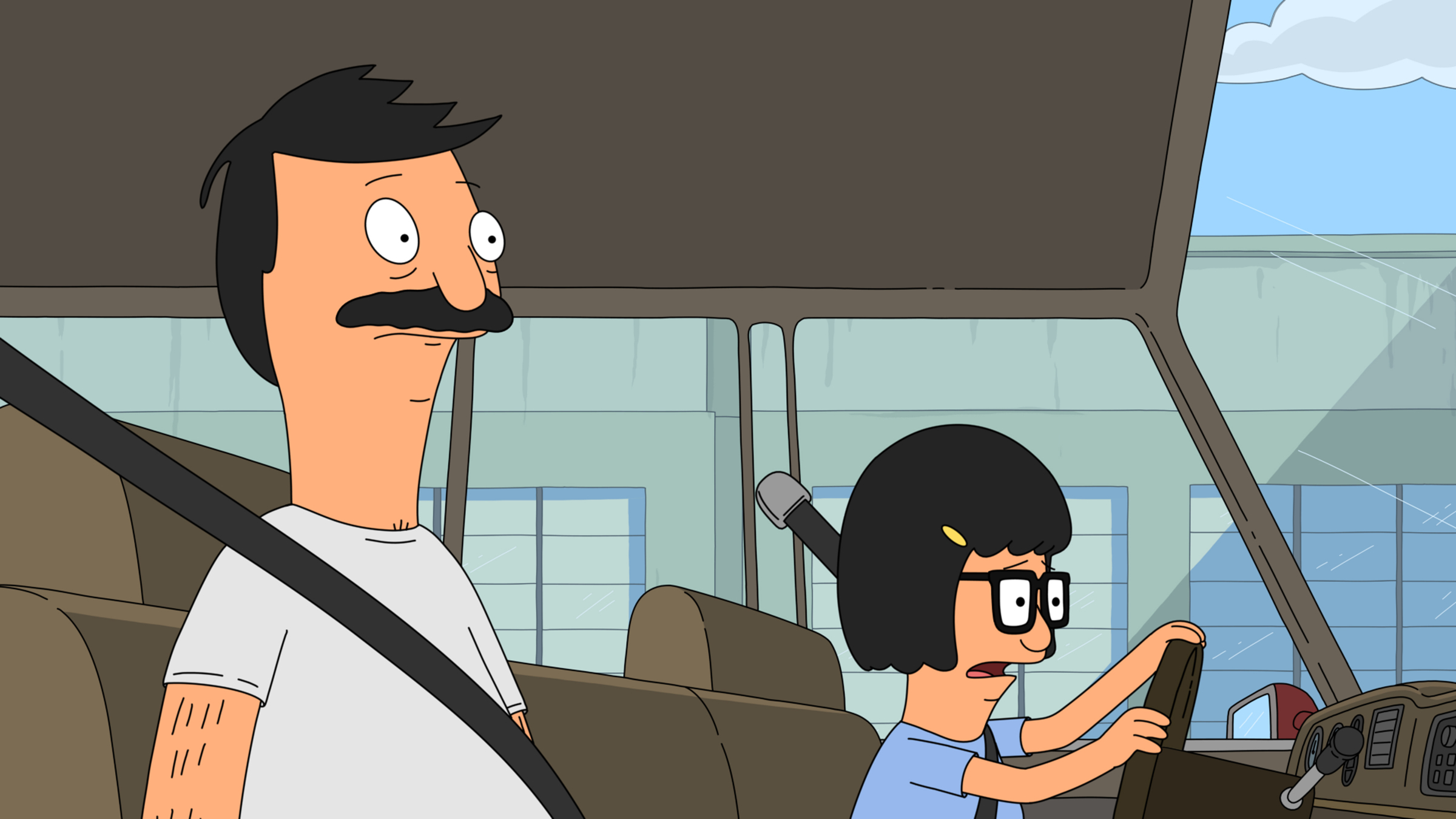"""BOB'S BURGERS: Bob gives Tina her first try behind the wheel in the all-new """"Tina-rannasaurus Wrecks"""" episode of BOB'S BURGERS airing Sunday, Dec. 2 (8:30-9:00 PM ET/PT) on FOX.  BOB'S BURGERS ™ and © 2012 TCFFC ALL RIGHTS RESERVED."""