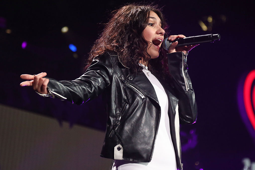 TAMPA, FL - DECEMBER 19:  Alessia Cara performs during the 2015 93.3 FLZ Jingle Ball at Amalie Arena on December 19, 2015 in Tampa, Florida.  (Photo by Taylor Hill/FilmMagic)