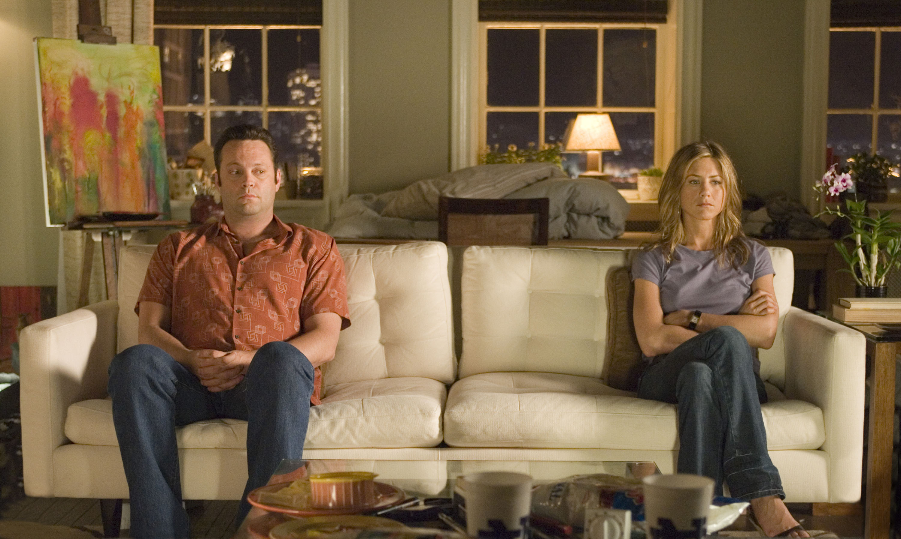 "Vince Vaughn and Jennifer Aniston share an awkward quiet moment in the romantic comedy ""The Break-Up."" CNS Photo courtesy of Melissa Moseley."
