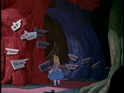 """Proof that """"Alice in Wonderland"""" could be the scariest of"""