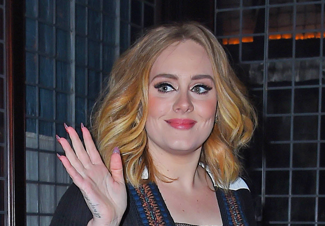 NEW YORK, NY - NOVEMBER 23:  Adele is seen on November 23, 2015 in New York City.  (Photo by NCP/Star Max/GC Images)