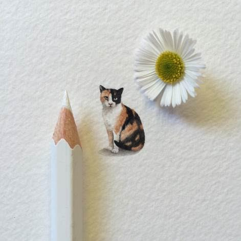 A Lorraine Loots miniature painting inspired by Emma Straub's  Modern Lovers
