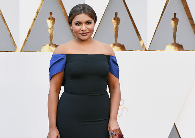 HOLLYWOOD, CA - FEBRUARY 28:  Actress Mindy Kaling attends the 88th Annual Academy Awards at Hollywood & Highland Center on February 28, 2016 in Hollywood, California.  (Photo by Jason Merritt/Getty Images)
