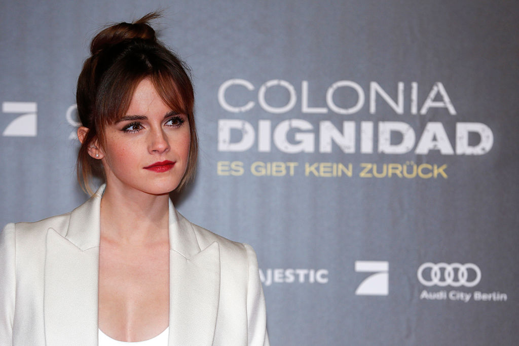 BERLIN, GERMANY - FEBRUARY 05: Emma Watson attends the 'Colonia Dignidad - Es gibt kein zurueck' Berlin Premiere on February 5, 2016 in Berlin, Germany. (Photo by Franziska Krug/Getty Images)