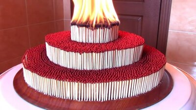 Groovy You Wont Be Able To Look Away From This Birthday Cake Of Matches Funny Birthday Cards Online Sheoxdamsfinfo