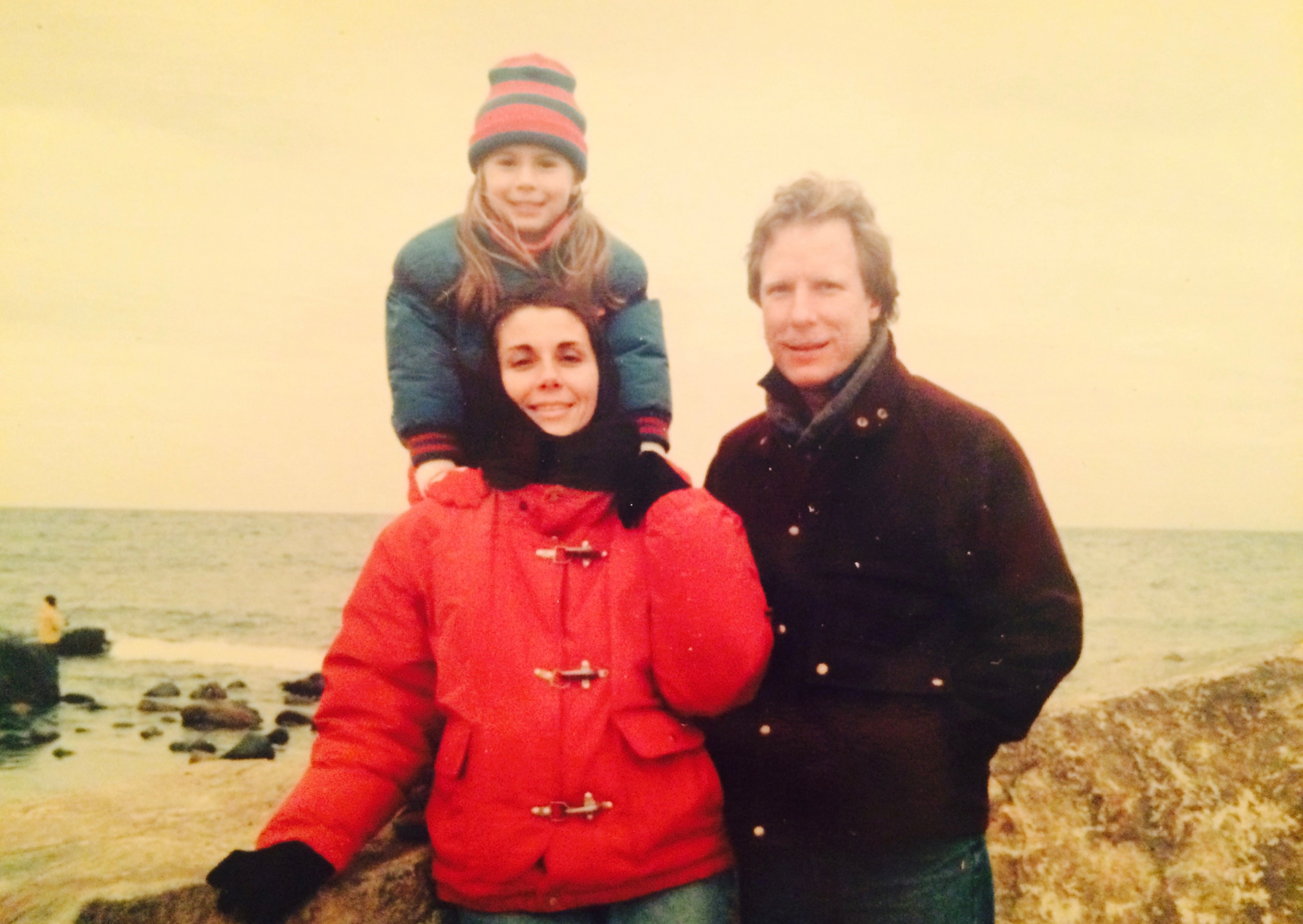 The writer and her parents.