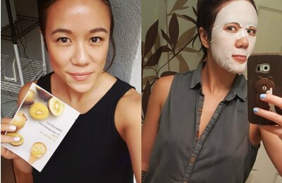 I used Korean face masks for four days in a row, and it was