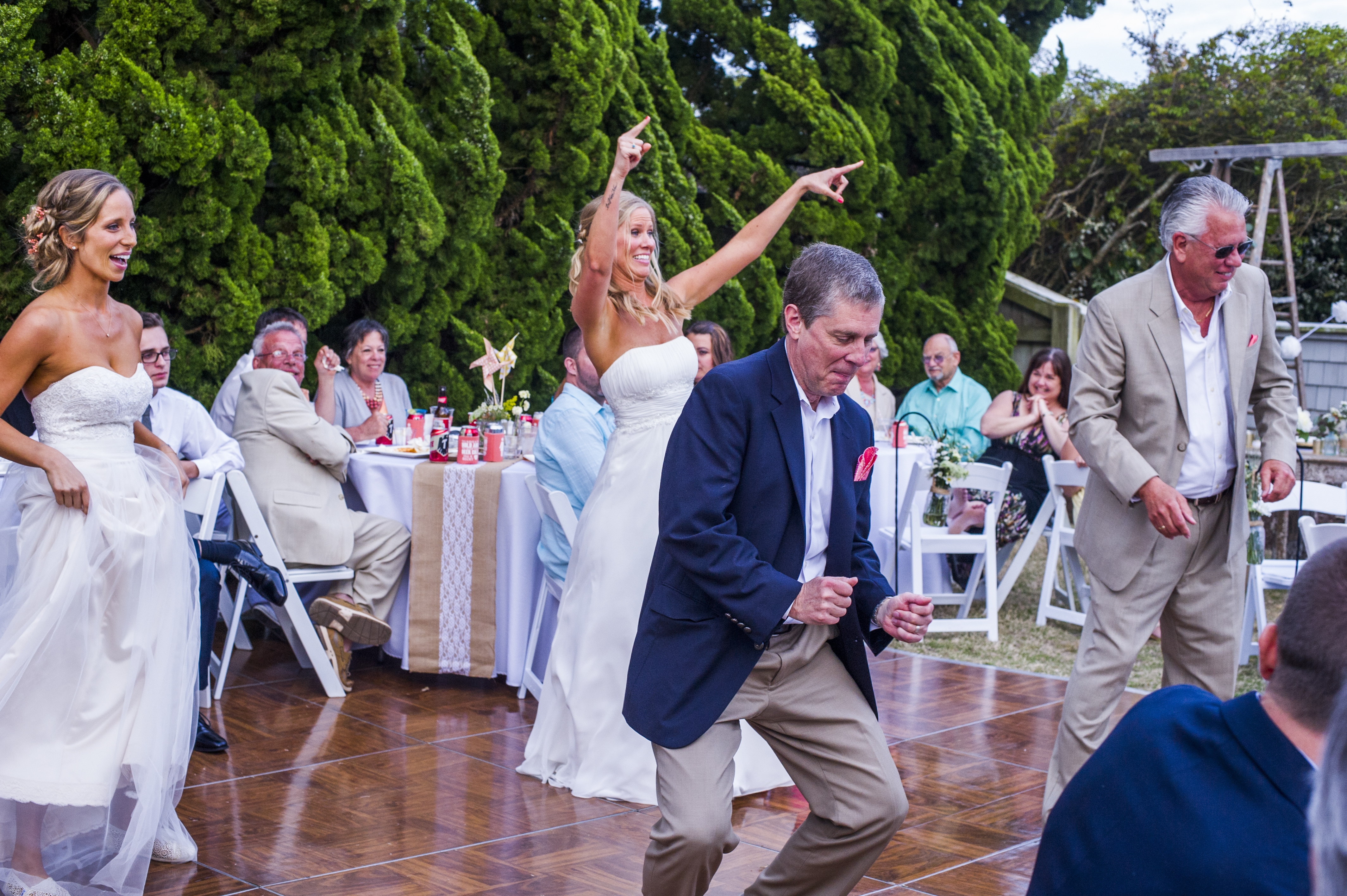 He willingly participated in a choreographed father/daughter dance at my wedding.