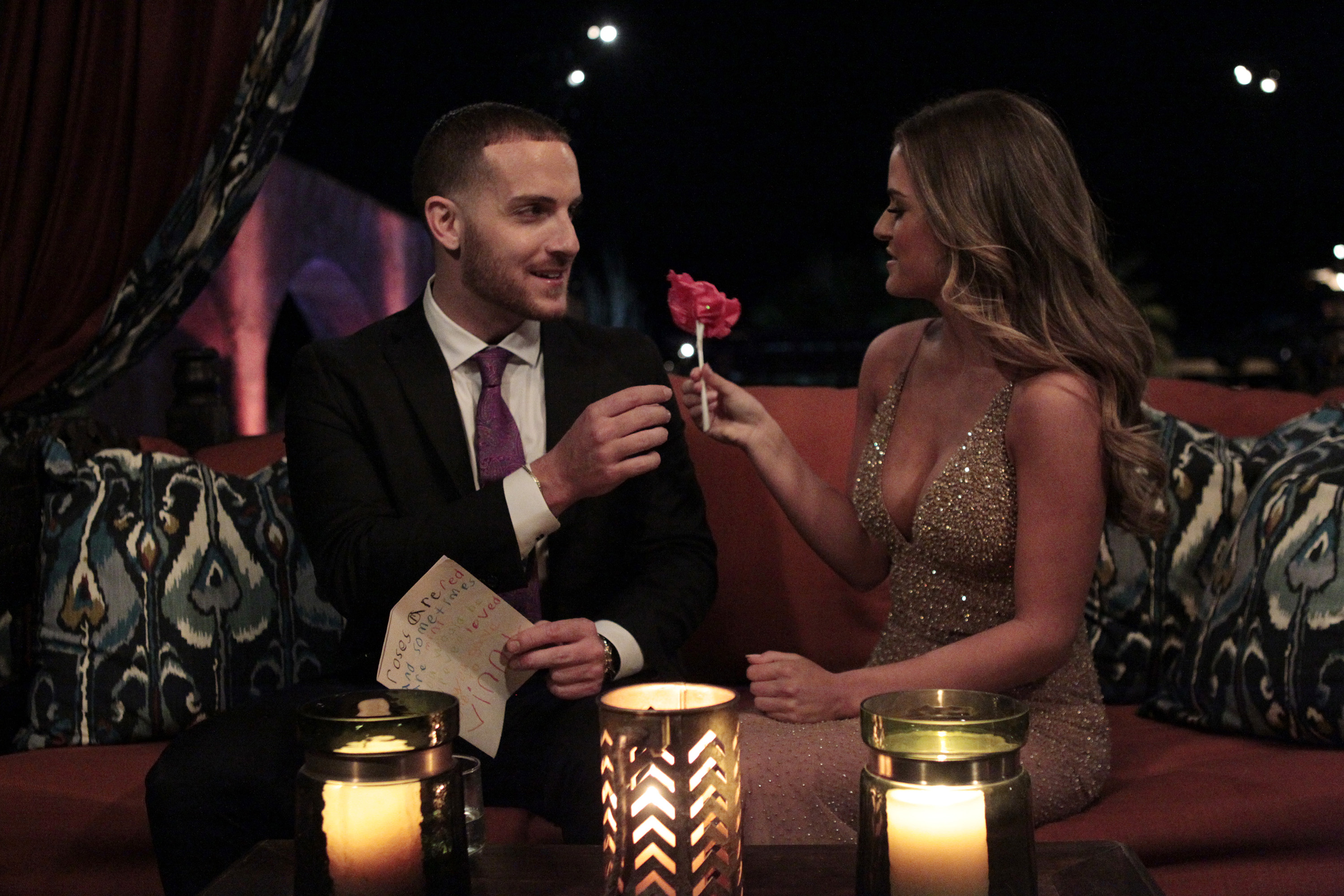 THE BACHELORETTE -  1201  - Successful and stunning real estate developer JoJo Fletcher, 25, gets a second chance at her happily-ever-after, choosing from twenty-six handsome bachelors. After being devastated last season by a shocking rejection from Bachelor Ben Higgins, who confessed his love to both her and Lauren Bushnell, the Texan beauty is ready to leave that heartbreak behind and write her very own love story as the Bachelorette. JoJo will embark on her own journey to find her soul mate when she stars in the 12th edition of ABC's hit romance reality series,  The Bachelorette,  which will premiere at a special time MONDAY, MAY 23 (9:01-11:00 p.m. EDT), on the ABC Television Network. (ABC/Rick Rowell)                             VINCENT, JOJO FLETCHER