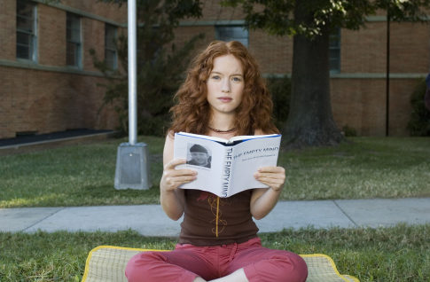 After a life of regulations and deadlines, Rory (MARIA THAYER) prefers to empty her mind in the comedy ?Accepted?.  ?Accepted? will be released in theaters on August 11, 2006.