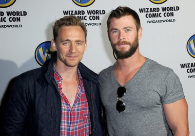Thor and Loki visited a children's hospital together and we