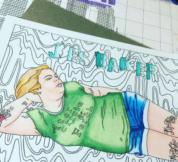 This body-positive coloring book is beautiful and fun while simultaneously destroying the fat-shamers